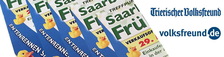 Pressebericht Entenrennen am Saarburger Frühling
