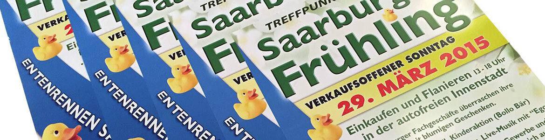 Saarburger Frühling mit Entenrennen auf dem Leukbach