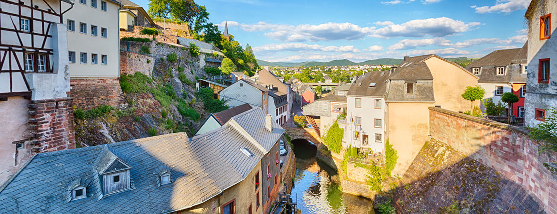 Saarburger Altstadt mit Leuk und Mühle